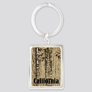 Vintage Sequoia National Park Portrait Keychain
