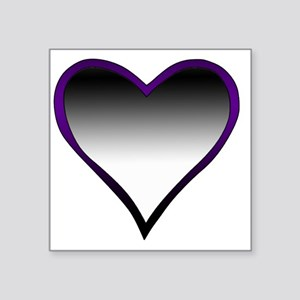 """Asexual Flag Heart Square Sticker 3"""" x 3"""""""