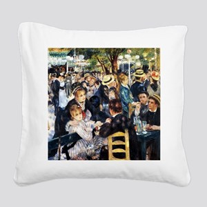 Renoir Le Moulin de la Galett Square Canvas Pillow