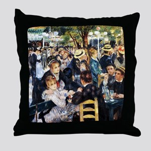 Renoir Le Moulin de la Galette Throw Pillow