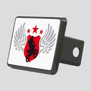 motorcycle jump fire wings Rectangular Hitch Cover