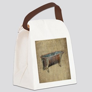 Vintage Bathtub Canvas Lunch Bag