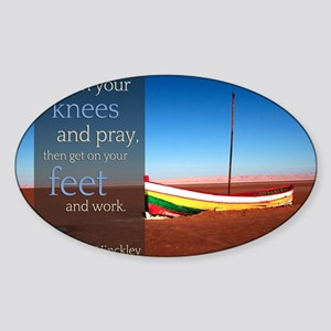 LDS Quotes- President Hinckley and  Sticker (Oval)