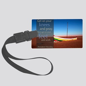 LDS Quotes- President Hinckley a Large Luggage Tag