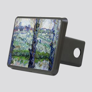 Van Gogh Flowering Orchard Rectangular Hitch Cover