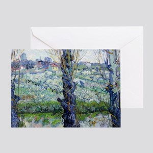Van Gogh Flowering Orchards Greeting Card