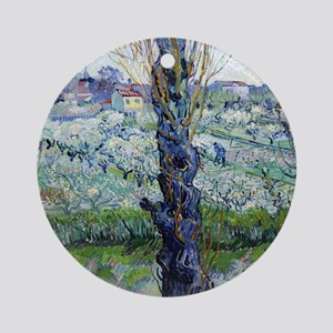 Van Gogh Flowering Orchards Round Ornament