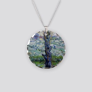 Van Gogh Flowering Orchards Necklace Circle Charm