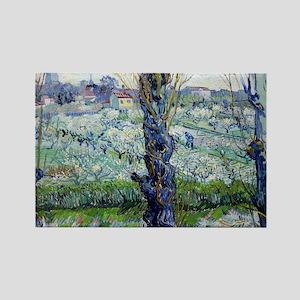 Van Gogh Flowering Orchards Rectangle Magnet