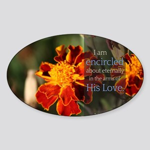 LDS Quotes- I am encircled about et Sticker (Oval)