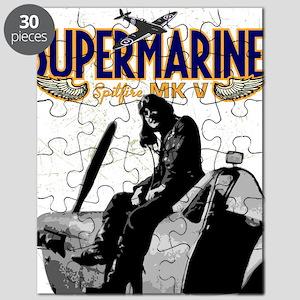 Spitfire Pilot Artwork on Puzzle