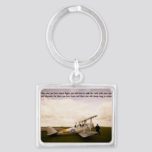 Tiger Moth Getting ready to fly Landscape Keychain