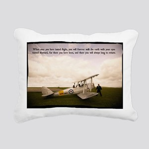 Tiger Moth Getting ready Rectangular Canvas Pillow