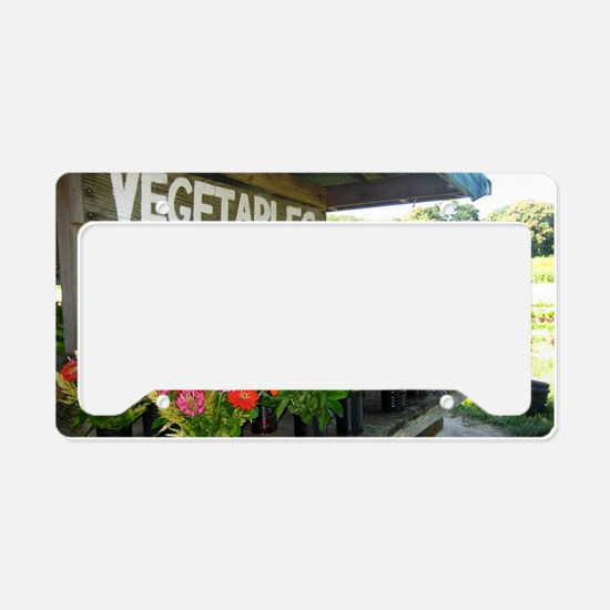 flowers License Plate Holder
