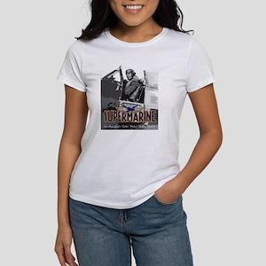 Supermarine Spitfire Pilot Art on Women's T-Shirt