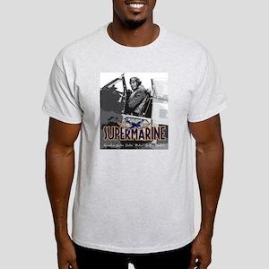 Supermarine Spitfire Pilot Art on Light T-Shirt