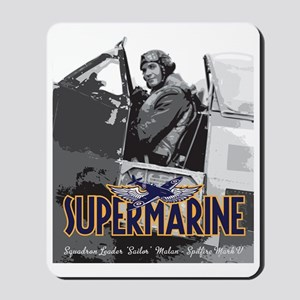 Supermarine Spitfire Pilot Art on Mousepad