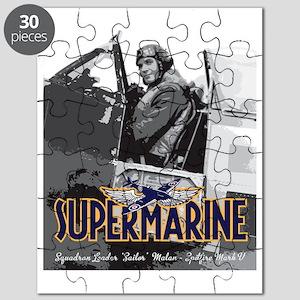 Supermarine Spitfire Pilot Art on Puzzle