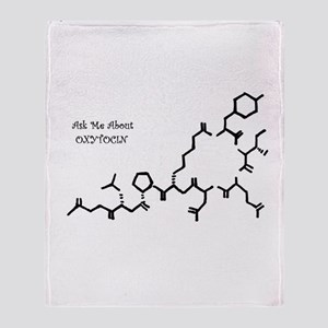 Ask Me About Oxytocin Throw Blanket