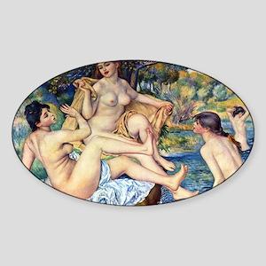 Pierre-Auguste Renoir The Large Bat Sticker (Oval)