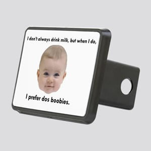 Dos Boobies Baby Beer Rectangular Hitch Cover