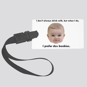 Dos Boobies Baby Beer Large Luggage Tag