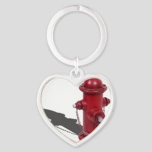 Fire Hydrant Heart Keychain