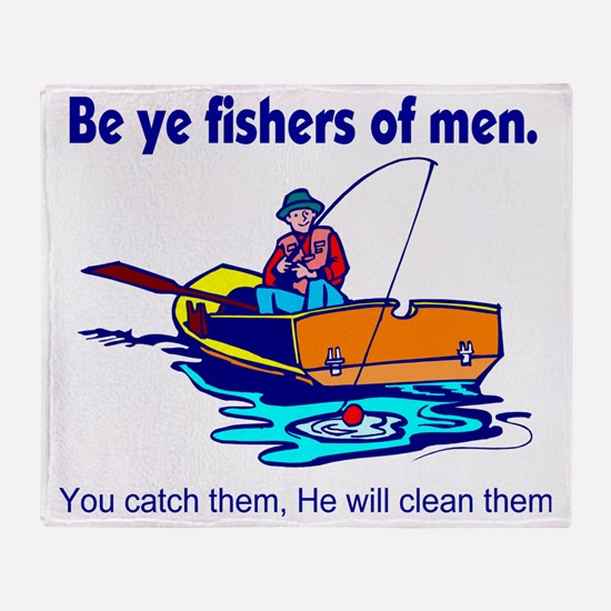 Be ye fishers of men Throw Blanket