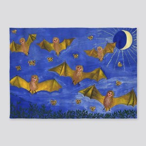 Bat People at the Pipistrelle Party 5'x7'Area Rug