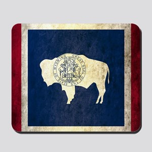 Grunge Wyoming Flag Mousepad