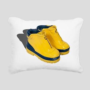 Rubber Boots Rectangular Canvas Pillow