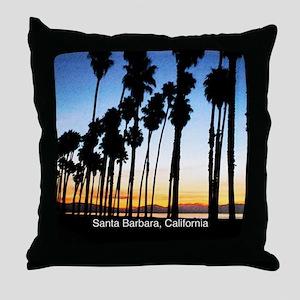 Sunset in Santa Barbara Throw Pillow