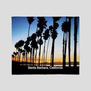 Sunset in Santa Barbara Throw Blanket