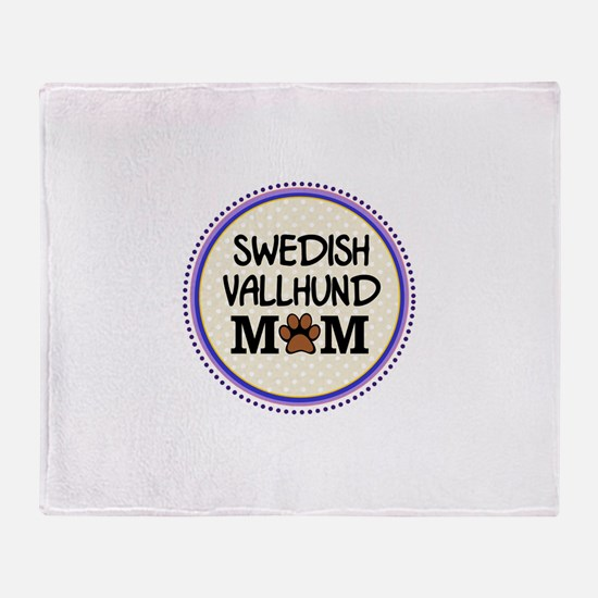 Swedish Vallhund Dog Mom Throw Blanket