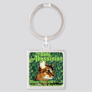 Internet Needs More Cats Square Keychain
