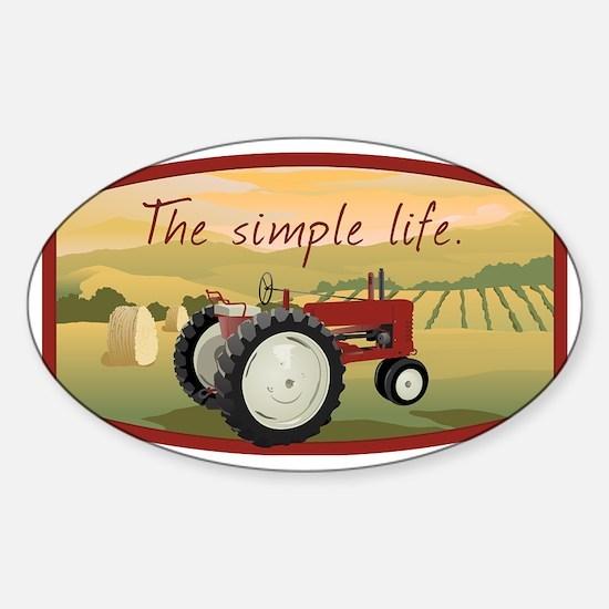 The simple life tractor farm - Colo Sticker (Oval)