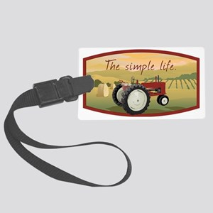 The simple life tractor farm - C Large Luggage Tag