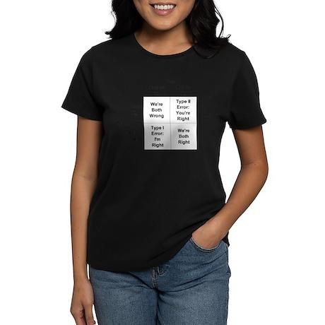 Type I and II Errors Women's Dark T-Shirt