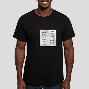 Type I and II Errors Men's Fitted T-Shirt (dark)