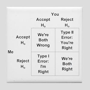 Type I and II Errors Tile Coaster
