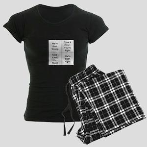 Type I and II Errors Women's Dark Pajamas