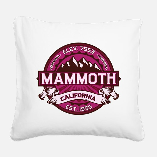 Mammoth Raspberry Square Canvas Pillow