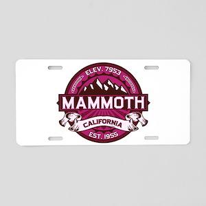 Mammoth Raspberry Aluminum License Plate