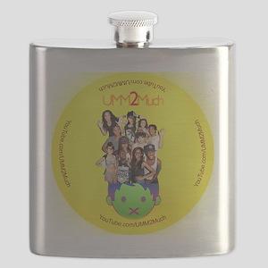 UMM2Much Cast Button 2.25' Flask