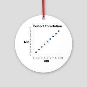 Perfect Correlation Round Ornament