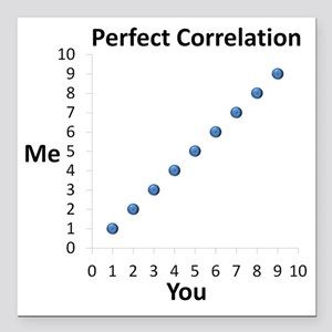 "Perfect Correlation Square Car Magnet 3"" x 3"""
