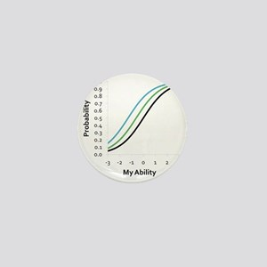 Logistic Statistical Curves Mini Button
