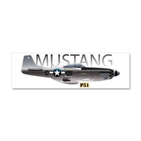 Mustang P-51 drawing on Car Magnet 10 x 3