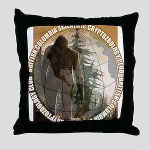 BCSCC Sasquatch Club Logo Throw Pillow