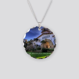 Courthouse Necklace Circle Charm